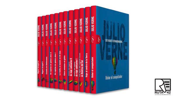 Los 12 tomos de Signo editores sobre Julio Verne